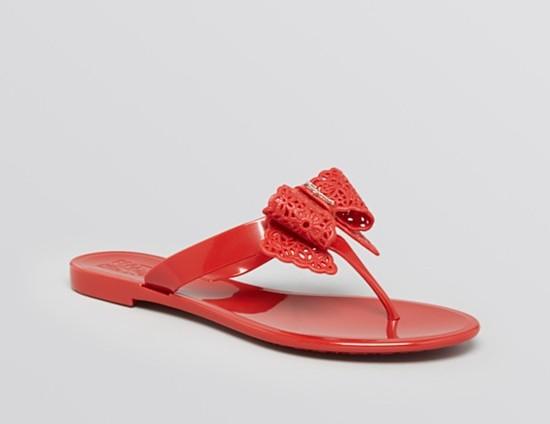 Salvatore Ferragamo Flip Flop Jelly Sandals – Pandy