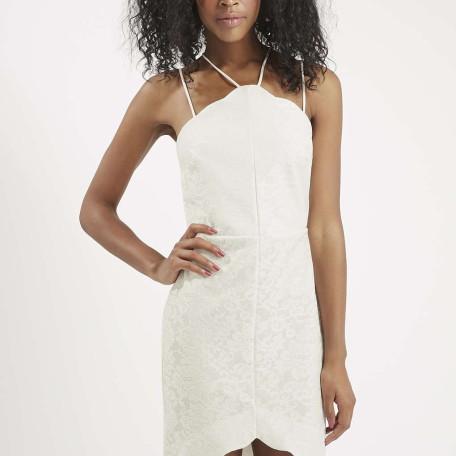 Scallop Lace Bodycon Dress