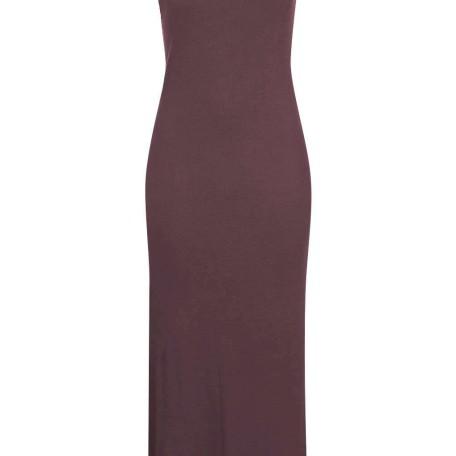 Square Neck Ribbed Maxi Dress