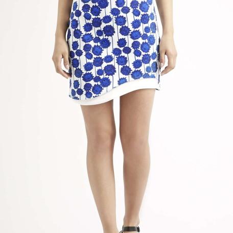 Wave Hem Mini Skirt