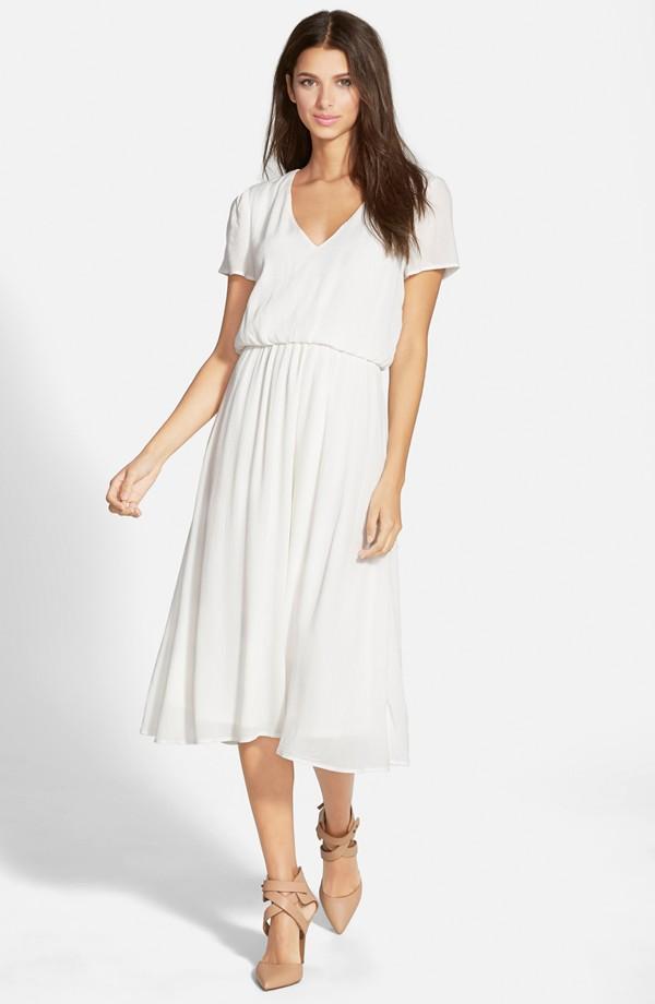 c90d1e9c3ccb Wayf Blouson Midi Dress – Nouveaute Boutique