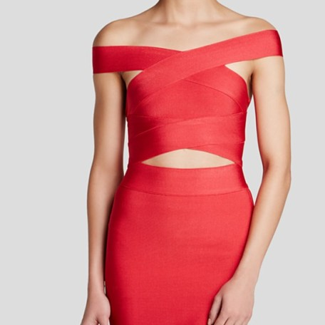 Wow Couture Top – Off the Shoulder Bandage