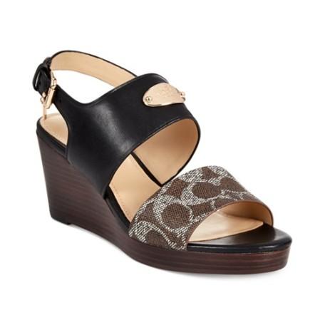 COACH Hendrick Two-Piece Wedge Sandals