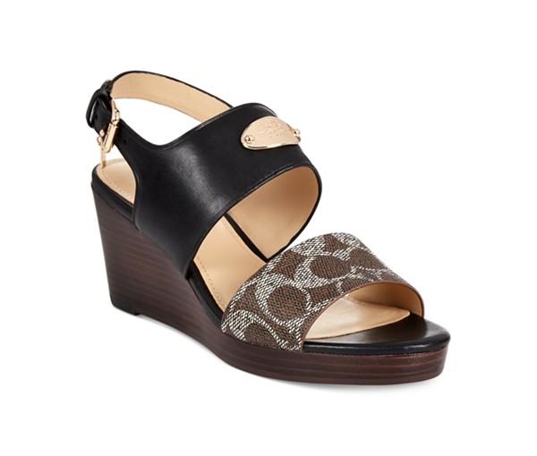 a6bf81e530c COACH Hendrick Two-Piece Wedge Sandals – Nouveaute Boutique