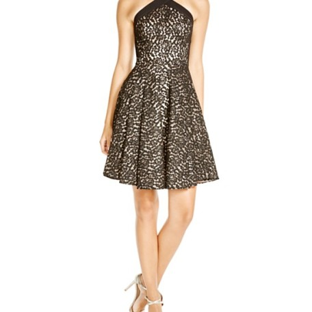 ABS Allen Schwartz Lace Fit and Flare Dress