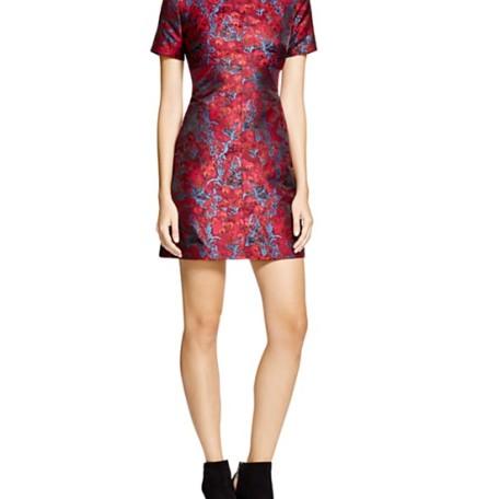 AQUA Suzette Brocade Dress