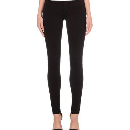 J Brand Maria black skinny high-rise jeans