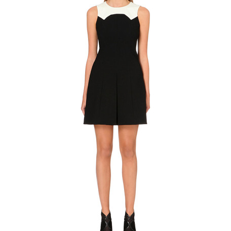 Karen Millen Monochrome crepe shift dress