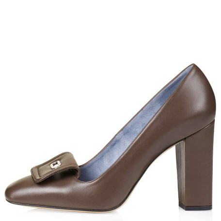 Leather High Heel Courts by Unique