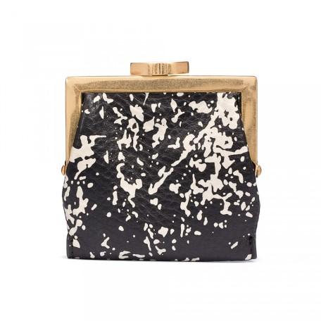 Lulu Guinness Floor Print Grainy Leather Folded Purse