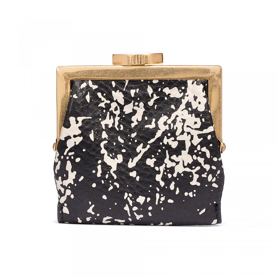 Lulu Guinness Floor Print Grainy Leather Folded Purse – Nouveaute ...