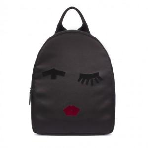 Lulu Guinness Tape Face Satin Backpack