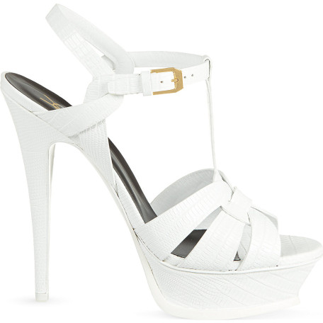 Saint Laurent Tribute 105 leather heeled sandals