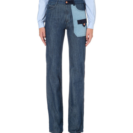See By Chole Straight high-rise stretch-denim jeans