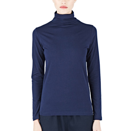 Sunspel 30s Long Sleeved Roll Neck Top aw15