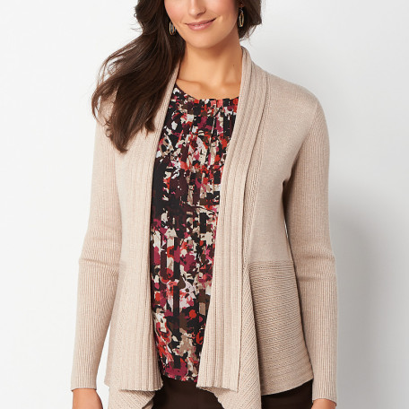 Textured Cascade Cardigan