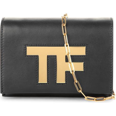 Tom Frod logo leather cross-body bag
