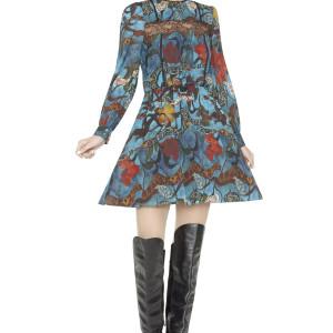 Aimee Pintuck Lace Insert Dress