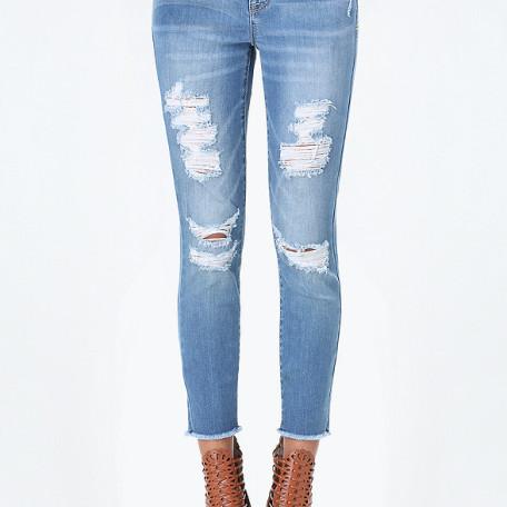 Bebe Crop Girlfriend Jeans