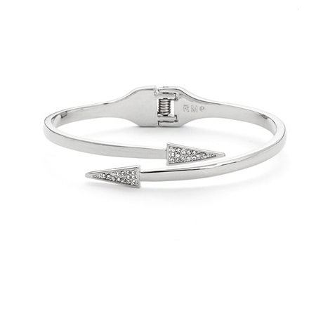 Rebecca Minkoff Pavé Triangle Hinge Bracelet