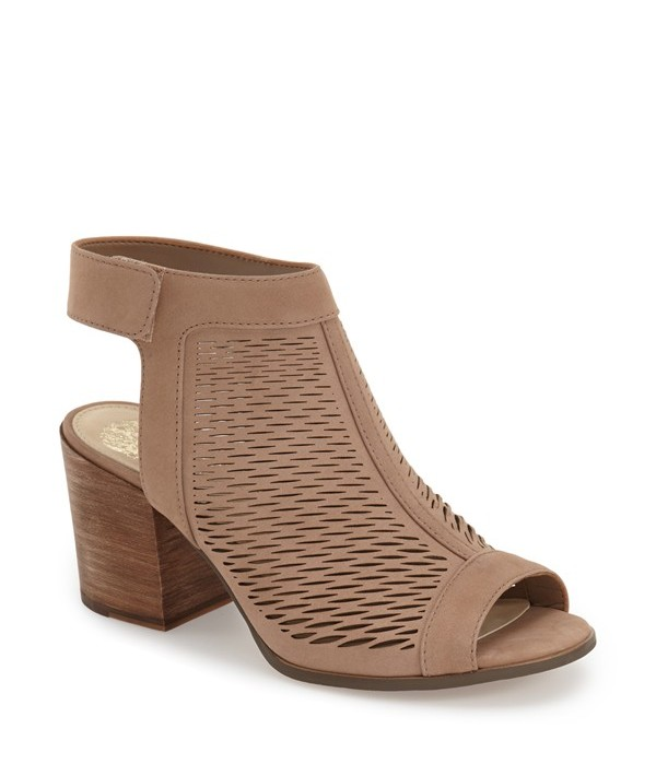 Perforated Peep Toe Shoes