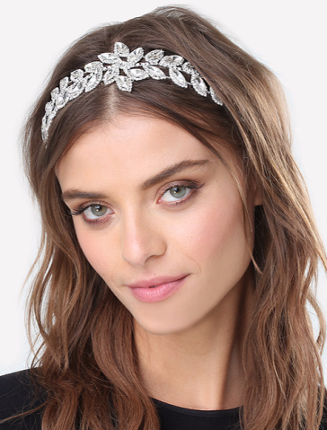 The Perfect Summer Accessory: Bebe's Crystal Leaf Headband